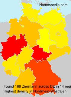 Surname Ziermann in Germany