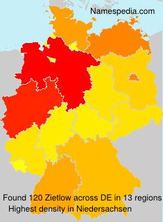 Familiennamen Zietlow - Germany