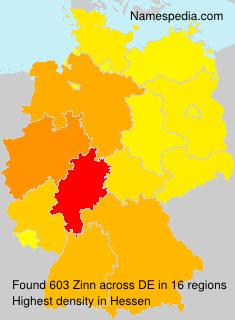 Familiennamen Zinn - Germany