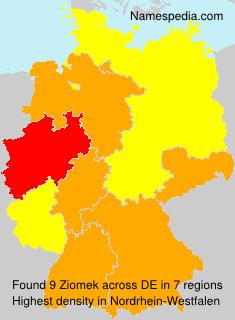 Surname Ziomek in Germany