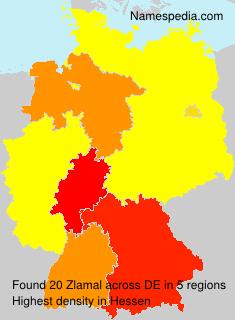 Familiennamen Zlamal - Germany