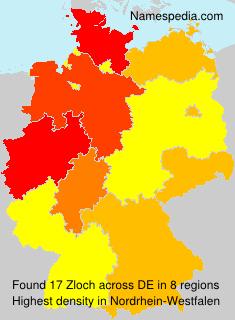 Familiennamen Zloch - Germany