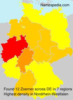 Surname Zoerner in Germany