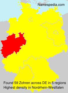 Surname Zohren in Germany