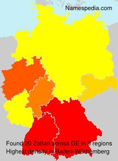 Surname Zoltan in Germany