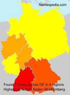 Surname Zonta in Germany
