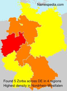 Familiennamen Zorba - Germany