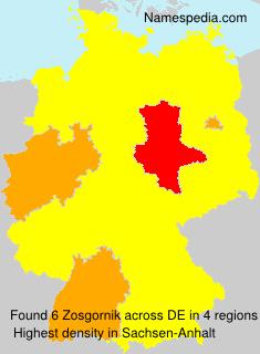 Familiennamen Zosgornik - Germany