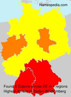 Familiennamen Zubova - Germany