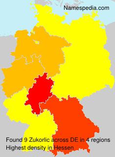 Surname Zukorlic in Germany