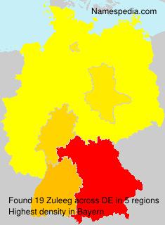 Familiennamen Zuleeg - Germany