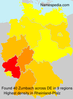 Surname Zumbach in Germany