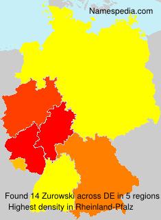 Surname Zurowski in Germany