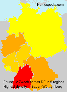 Surname Zwach in Germany