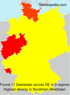 Surname Zweiacker in Germany