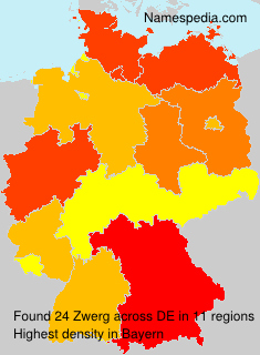 Surname Zwerg in Germany