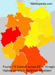 Surname Zwiener in Germany