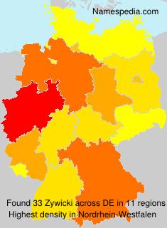 Surname Zywicki in Germany