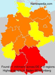 Familiennamen mittmann - Germany