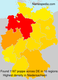 Surname poppe in Germany