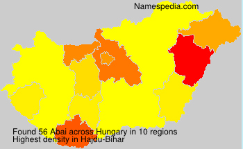 Surname Abai in Hungary
