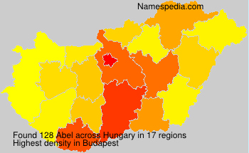 Surname Abel in Hungary