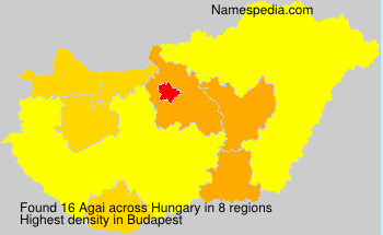 Surname Agai in Hungary
