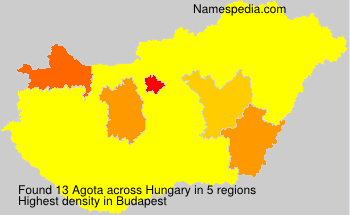 Surname Agota in Hungary