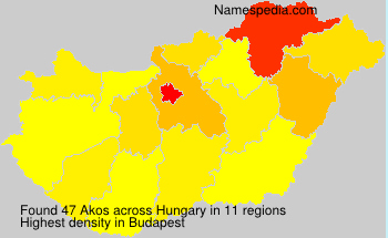 Surname Akos in Hungary