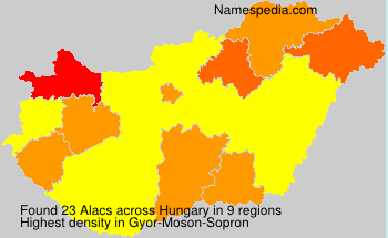 Surname Alacs in Hungary