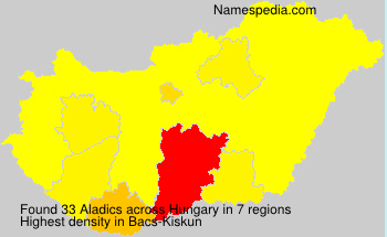 Surname Aladics in Hungary