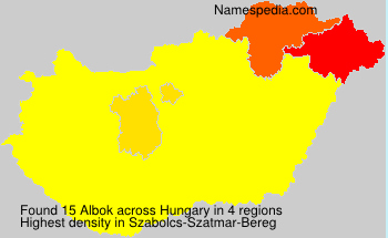 Surname Albok in Hungary
