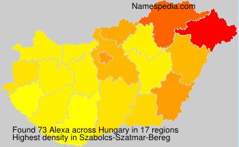 Surname Alexa in Hungary