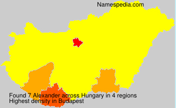Surname Alexander in Hungary