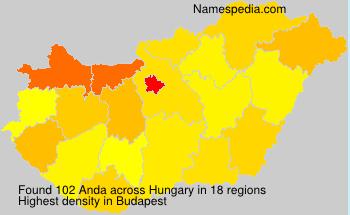 Surname Anda in Hungary
