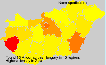 Surname Andor in Hungary