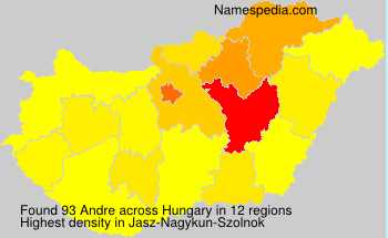 Surname Andre in Hungary