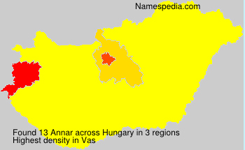 Surname Annar in Hungary