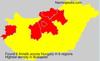 Familiennamen Antalik - Hungary