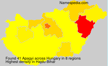 Surname Apagyi in Hungary