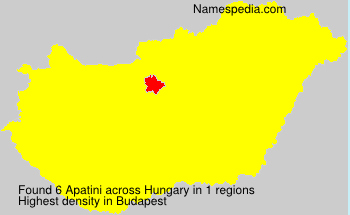 Surname Apatini in Hungary