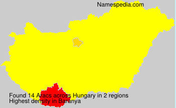 Surname Aracs in Hungary