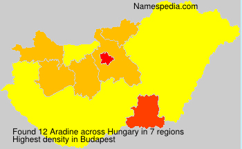 Surname Aradine in Hungary
