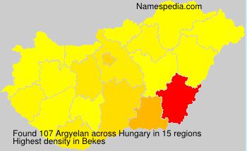 Familiennamen Argyelan - Hungary