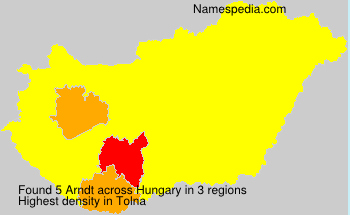 Surname Arndt in Hungary