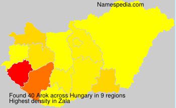 Surname Arok in Hungary
