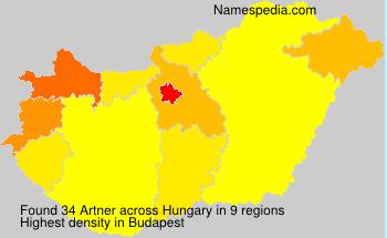 Familiennamen Artner - Hungary