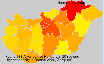 Surname Arvai in Hungary