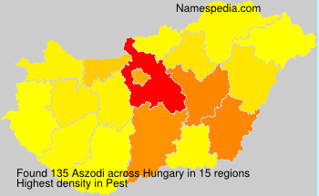 Surname Aszodi in Hungary