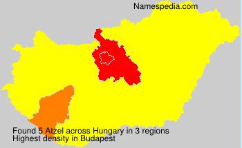 Familiennamen Atzel - Hungary